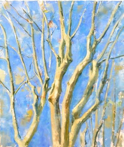 Hêtres - huile sur toile - 146 x 110 cm - 2013